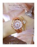 Роскошный элегантный женщин Rhinestone часы Lady Pearl платье смотреть