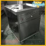 Único cuadrado rollo Pan freír los helados de la máquina para Comercial