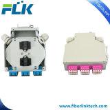 6 Quad de fibra óptica LC de metal en carril DIN ODF Empalme terminación caso/Alojamiento/Box