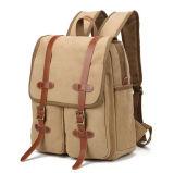 Course classieuse des sports en plein air de l'homme de toile baladant le rétro sac à dos de sac d'école de sac d'épaule de double de loisirs