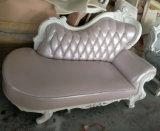 Sofà sezionale di cuoio di legno di Handcaved della mobilia domestica antica di lusso (1212#)