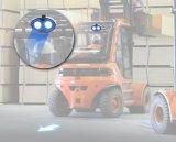 blauer Träger-Gabelstapler-Warnleuchte der Pfeil-10W für elektrische LKWas