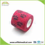 Cor de alta coesa veterinário elástica bandagem auto-adesiva impermeável