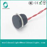 Interruttore piezo-elettrico momentaneo normalmente aperto piano anodizzato nero di Flyingleads 200mA 24VAC/DC dell'operatore di Ws162f1nom IP68 16mm