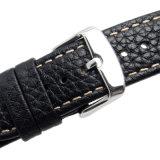 Faixa de relógio do couro de grão de Lichi