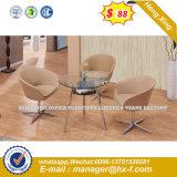 둥근 스테인리스 금속 기초 PU 가죽 의자 의자 (HX-SN8037)