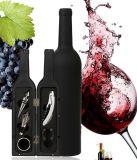 La bottiglia di vino a forma di dell'insieme di strumento del vino della bottiglia 5-Piece lavora gli accessori