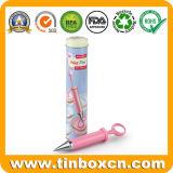 Supporto per i regali, contenitore della penna dello stagno del metallo di stagno del POT della spazzola
