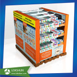 Pop Supermarket Carton Display Rack Paper Pallet Display