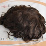 Mutidirectional 단청 상단 PU 국경 Mens 가발 (PPG-l-01369)