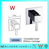 Robinet sanitaire de douche d'en cuivre de salle de bains de bonne qualité de filigrane d'articles (HD505)