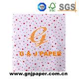 Papel de embalaje impreso decorativo del tejido de la eliminación