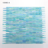 Blaue Buntglas-Wand-Mosaik-Fliese für Badezimmer Backsplash