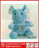 Игрушка слона плюша рождества с цветком в руке