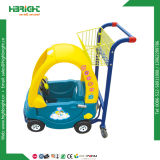 Het Winkelen van de Kinderen van de supermarkt Karretje met de Auto van het Stuk speelgoed