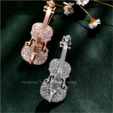 Promoción Broches Traje de Mujer Broche Broche Rhinestone Pin violín All-Match personalidad femenina Joyas