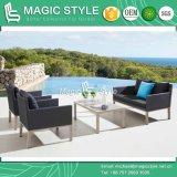 Sofá moderno ajustado de matéria têxtil do sofá ao ar livre de matéria têxtil com o sofá de alumínio do coxim com a cadeira ajustada de matéria têxtil do clube do sofá do estilingue 2-Seat do hotel do sofá do estilingue do jardim de matéria têxtil