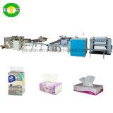 Cadena de producción suave automática completa de máquina del papel de tejido facial del conjunto del embalaje y del rectángulo