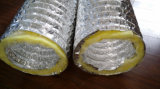 Aislante flexible aislado de las lanas de cristal del OEM del conducto de la capa doble