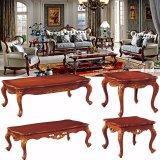 セットされる木製ファブリックソファーが付いている居間の家具(510E)