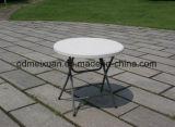 Table pliante en plastique haute Table de pique-nique extérieure barre verte statif de table avec une petite table ronde (M-X3779)