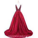 O partido do baile de finalistas da V-Garganta veste A - linha vestidos de noite vermelhos verdes conservados em estoque Z5024