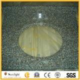 박판으로 만들어진 가득 차있는 주먹코 또는 편해진 가장자리 Giallo Cecilia 어두운 화강암 부엌 싱크대