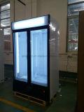 スーパーマーケットのための熱い販売2のドアの商業飲料の永続的なクーラー