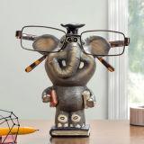 Крен монетки скульптуры слона корабля Polyresin и держатель Eyeglass