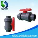 Melhor preço duplo de PVC europeia a válvula de esfera (DIN, ANSI, BS)
