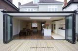 Portelli di piegatura di alluminio del patio del balcone con vetro glassato