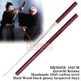 Vermelho japonês do 1:1 da espada de Zatoichi Katana Shirasaya