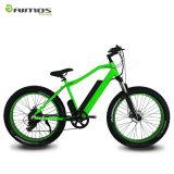 bici elettrica della neve della gomma 26inch della spiaggia della batteria grassa del pellame con velocità 9