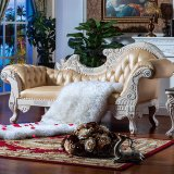Salotto di cuoio classico del Chaise (90B)