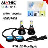 Phare de voiture à LED H1 H3 H7 H11 H4 880 881 9006 9005 COB Projecteur à LED, 40W 80WKit de Projecteur à LED