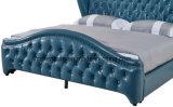 鋼鉄足のホーム家具が付いている現代高い頭板の完全な革ベッド