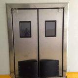 Edelstahl-Auswirkung-Verkehrs-Schwingen-Tür mit Sicherheit Fenster