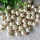 Оптовая половинная круглая кнопка хвостовика кнопки перлы ABS