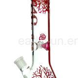 جميلة واضحة أحمر طباعة كأس زجاجيّة أنابيب نقّار [أيل ريغ] زجاجيّة يدخّن [وتر بيب] ([إس-غب-284])
