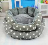 개, 강아지 또는 고양이를 위한 회색 면 애완 동물 침대