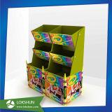 Afficheurs en bonbon en vrac en carton ondulé, affichage des barres de bonbons