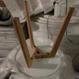 """"""" tavolino da salotto rotondo 27.5 con la Tabella bianca del caffè della base del basamento"""