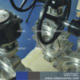Бронза, литой корпус из нержавеющей стали или железа выступ, полупроводниковая пластина и фланец RF промышленных двухстворчатый клапан для управления с помощью пневматического привода