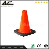 le meilleur cône de sécurité routière de PVC de circulation de base de noir de qualité de 300mm