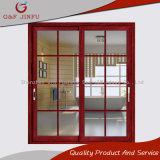 Exterior al por mayor del aluminio de la fábrica/puerta de cristal doble interior de la puerta deslizante