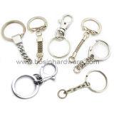 Anello spaccato dell'acciaio inossidabile con gli anelli Chain e piccoli