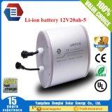Batería del Li-ion LiFePO4 de la talla 20ah 12V del OEM para la luz solar del LED