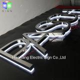 印を広告する屋外の店の前部銘柄のためのステンレス鋼のLEDによってバックライトを当てられるChannnelの文字