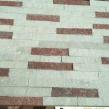Fornecedor chinês empilhadas/Ledgestone pedra ardósia pedra de cultura verde para segundo plano na parede