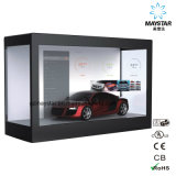 Guangzhou passte Fahrwerk Samsung 15~84 Zoll transparenter LCD-Schaukarton an